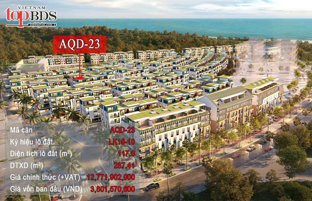 Bán căn Shophouse Premium phân khu AQUA mã căn AQD-23 vốn ban đầu 3 tỷ 8