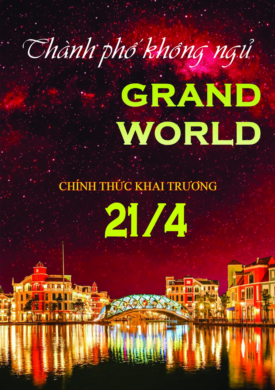 Đếm ngược khai trương Grand World Phú Quốc 21/4/2021