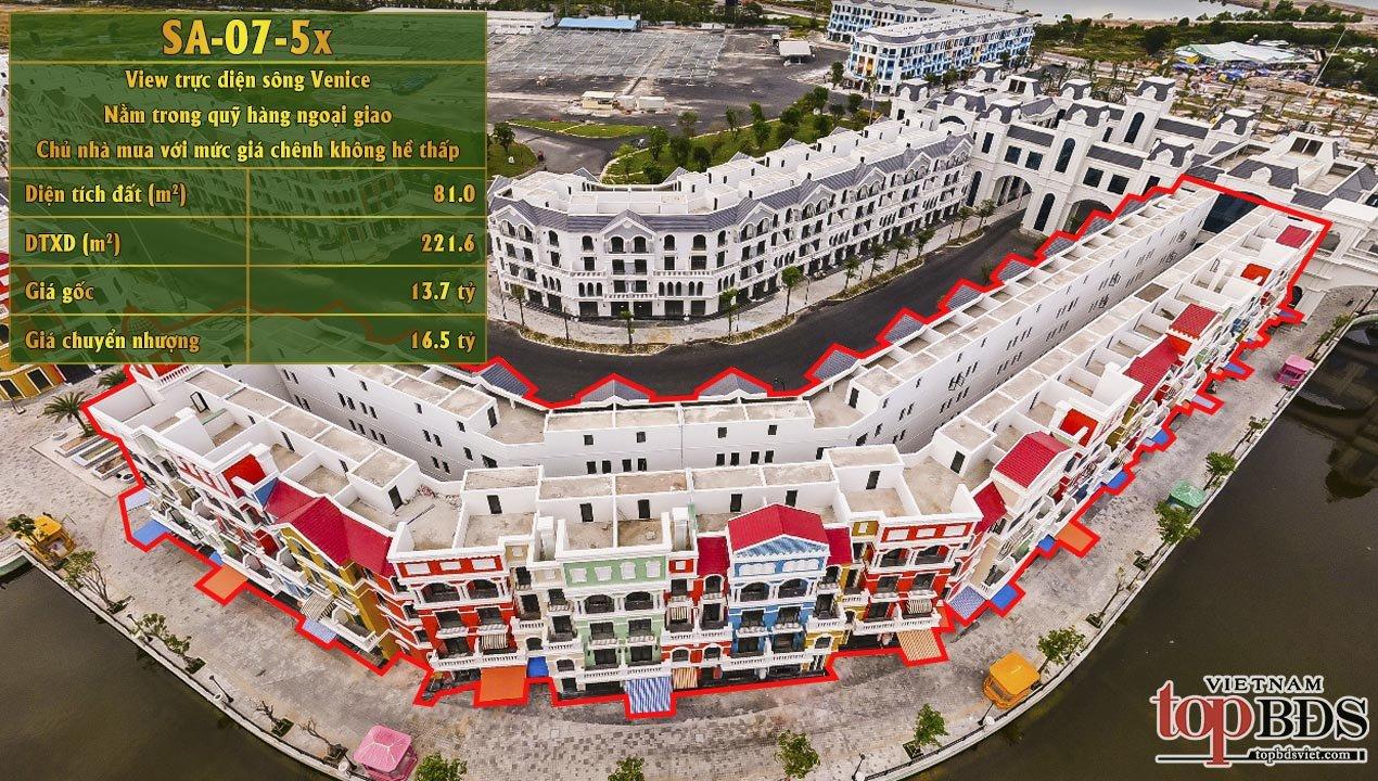 Chuyển nhượng căn SH ShangHai ngoại giao SA-07-5X View trực diện sông Venice