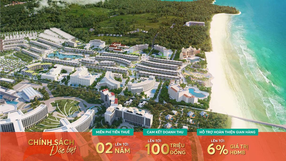 Vincom miễn phí 2 năm tiền thuê với shophouse Grandworld Phú Quốc
