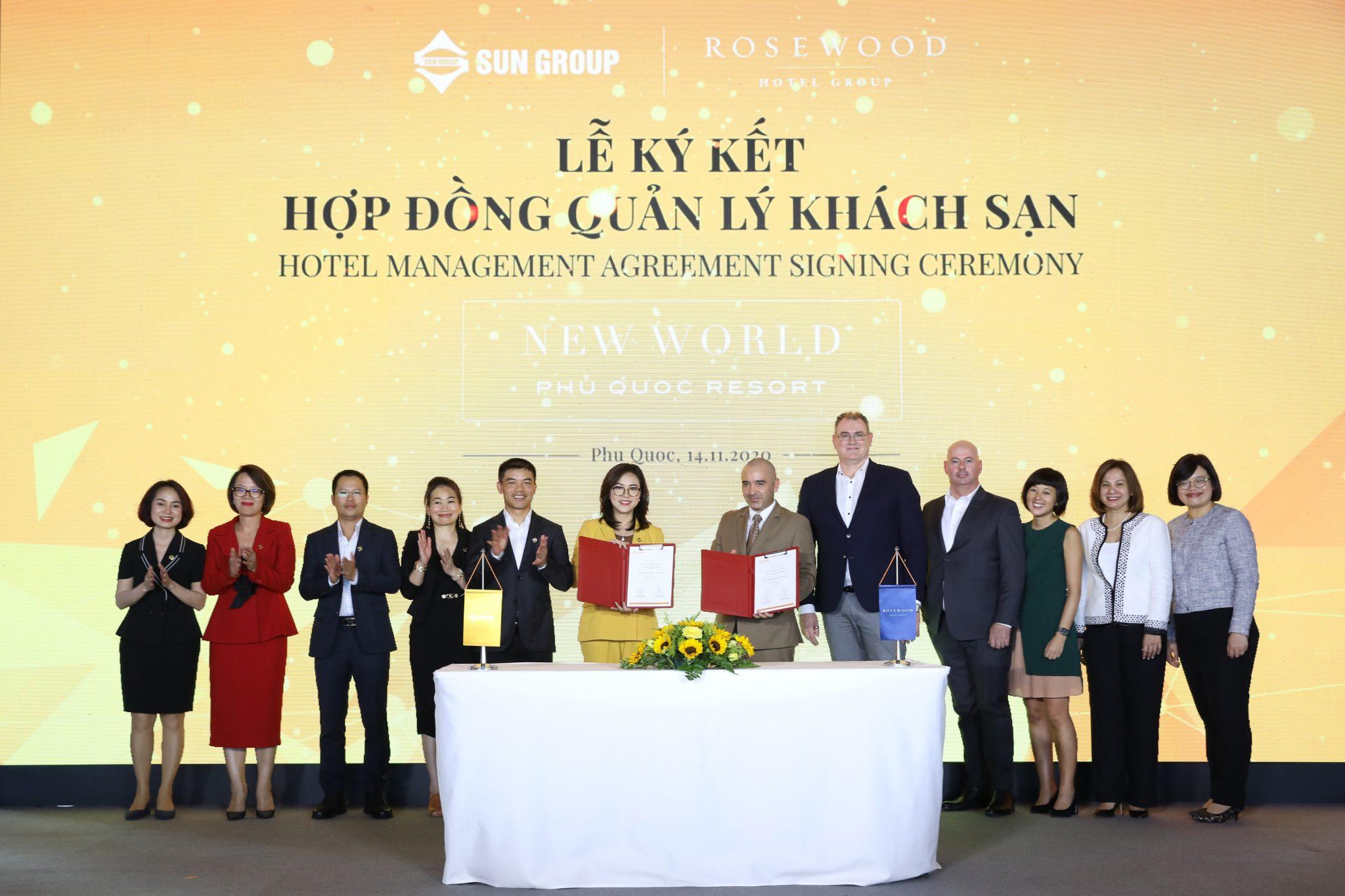 Lễ ký kết hợp tác giữa Tập đoàn Sun Group và Rosewood Hotel Group